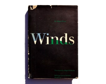 """Paul Rand book cover design, 1961. """"Winds"""" by St.-John Perse, translated by Hugh Chisholm"""