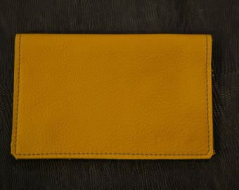 Tobacco yellow leather