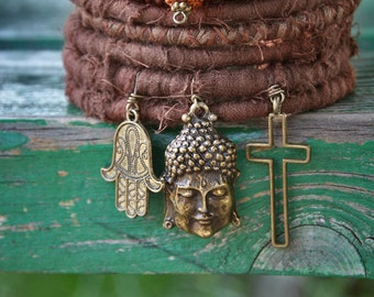 All one* textile bracelets ~ Boho fabric bangles ~ Gypsy bangles ~ Brown textile bracelets ~ Bohemian jewelry ~ READY TO SHIP ~