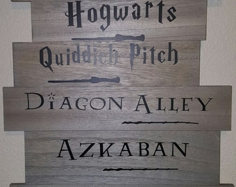 Harry Potter Direction Wood Sign