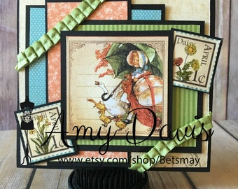 Graphic 45 - April Showers - Handmade Card