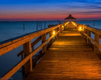 Corolla,Fishing Pier,Outer Banks Art,Outer Banks,OBX,Beach,Sunrise,Wall Art,Home Decor,Oversize Photography,Ocean,Sunset,Waves,Canvas Option