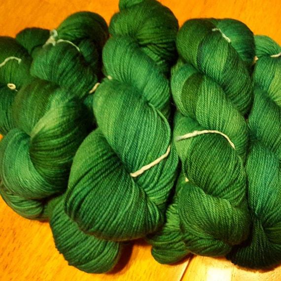 Emerald. Indie Dyed Unique OOAK Yarn