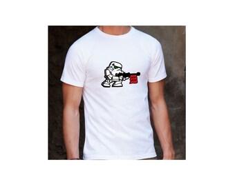 Star Wars Stormtrooper PEW! PEW! White T-Shirt