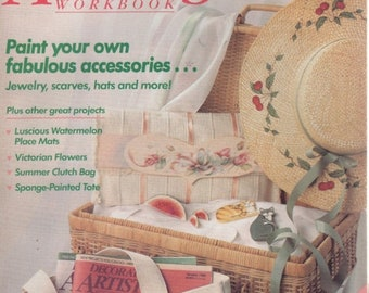 BTS Decorative Artists Workbook Patterns Inside August 1989 Paint Your Accessories