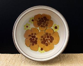 Denby Minstrel vintage 1970s vegetable bowl, English stoneware.
