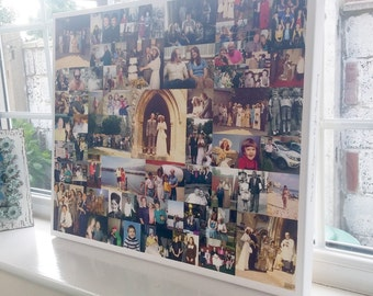 Family Photos Collage Canvas - Custom Designed - Premium Hand Made in UK