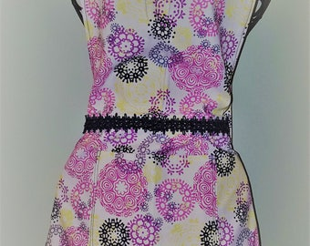 Apron - Pink - Lime - Navy