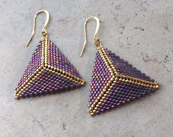 Peyote Triangle Earrings