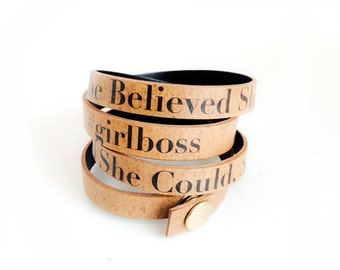 Girlboss reLeather Bracelet - FREE Domestic shipping