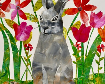 Bunny in the Garden Greeting Card