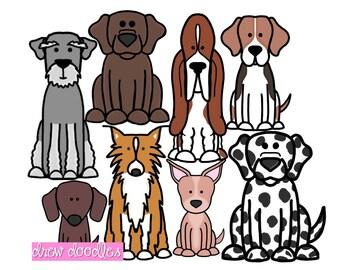 Dog Clip Art Set 2- Instant Download