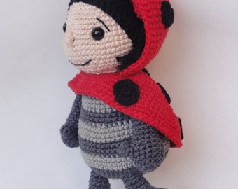 Amigurumi Crochet Pattern - Dotty the Ladybug - English Version