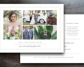 Photography Marketing - Wedding Photography Pricing Guide Template - Photographer Templates - Photography Template