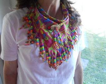 Bandanas, Neck Scarf, Wearable Art, Boho, Western Wear, COSOFG