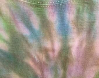 short sleeves, tie & dye spiral tee shirt