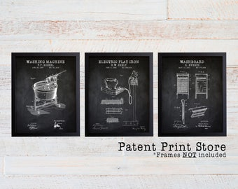 Laundry Room Patent Art Prints. Laundry Room Sign. Laundry Room Art. Patent Prints. Laundry Room Decor. Laundry Room Prints. Rustic. 210