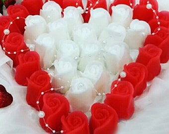Wedding Soap Favors 100 Soaps Rose Favors Soap bridal shower favors wedding favor ideas hostess gift soap gift handmade soap decorative soap