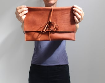 Leather envelope clutch - envelope wallet - leather clutch purse - minimalist clutch purse - handbag - evening bag - wedding clutch - clutch