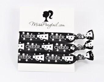 Cheer Hair Ties, Cheerleader, Cheerleading Squad, Work Out, Knotted Hair Ties, Handmade Hair Ties, Ponytail Holders, Girls Hair Ties, FOE