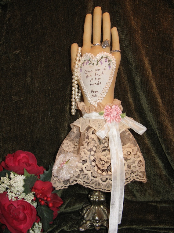 Proverbs 31-31  Mailed Cloth Doll Pattern- 16in Beautiful Hand Shaped Ring Holder