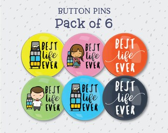 Button Pin Gift Set - Best Life Ever Badge Pack - jw gifts - jw ministry - jw pioneer gifts - best life ever - jw pioneer - jw org