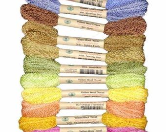 Valdani 100% Australian Virgin Wool Thread Collection Sz 8 Thread 12 Soft Shades