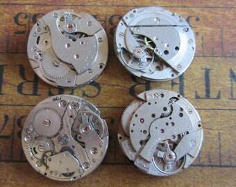 Steampunk supplies - Watch movements - Vintage Antique Watch movements Steampunk - Scrapbook y4