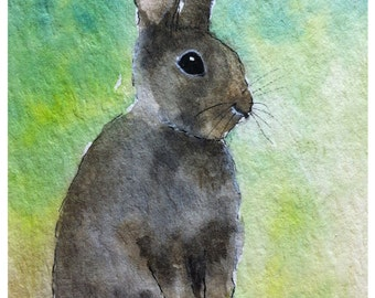 Rabbit Art Print  8X6 inch #97