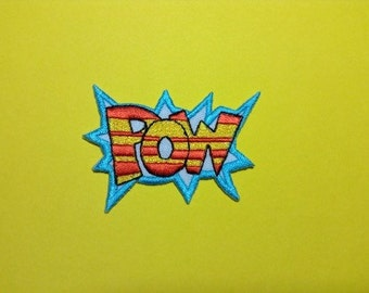 Iron on Sew on Patch:  POW