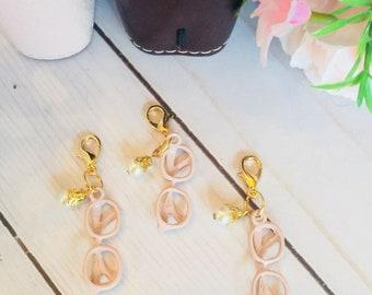 Fashion Style Glasses Charm ~ Eyeglasses Charm ~ Travelers Notebook Charm ~ Planner Charm ~ Pink Glasses