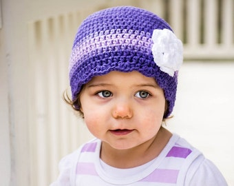 30 Colors Toddler Girl Hat 1T to 2T Custom Toddler Hat Crochet Flower Hat Striped Flapper Beanie Toddler Girl Clothes Lightweight Hat Cotton