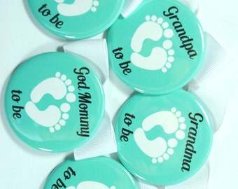 10 Baby Shower Baby and Company Party Favor Buttons, Baby Shower Name Tags