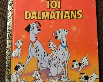 Vintage Children's Book 101 Dalmatians Little Golden Book