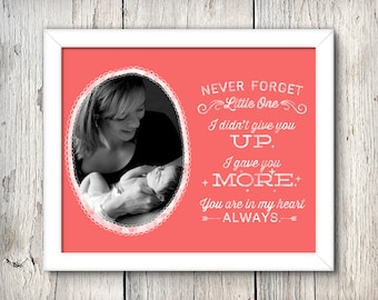 Never Forget - Custom Printable Birthmother + Adoption Art