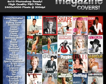 Magazine Covers V1 Photoshop Template Set