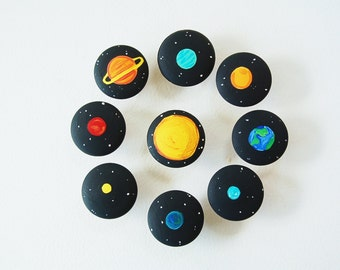 Solar System Set - Educational Memory Game - Wooden Toy Back To School