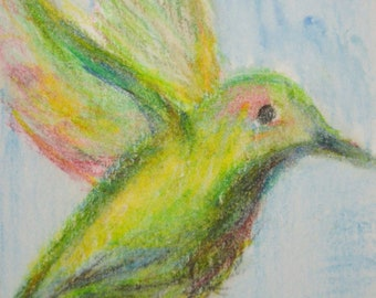 Original ACEO- Flying Up
