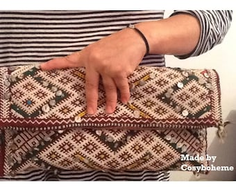 Authentic vintage INNA pouch in kilim