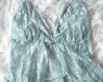 2000s Victorias Secret Lingerie Lace Slip Top