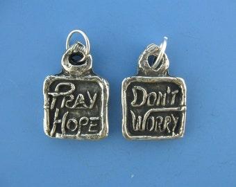 Padre Pio: Pray, Hope, Don't Worry, Handmade Medal