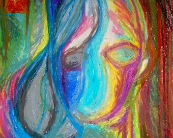 Music In Oil Pastel - Who You Really Are [PRINT]