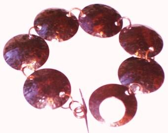 Copper Disc Bracelet