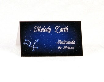 Written in the Stars Escort Cards - Starry Night Place Cards