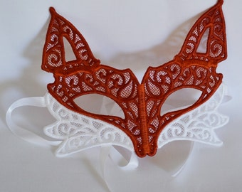 Embroidered Lace Fox Mask