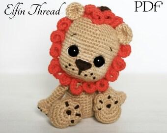 León Amigurumi Tutorial : Lion crochet pattern etsy