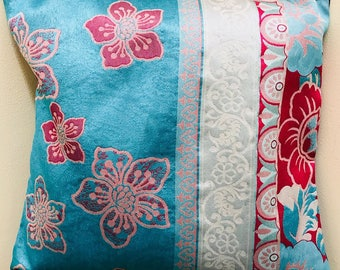 Handmade Designer Pillow / Cushion Cover - Oriental Garden 1