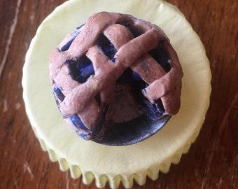 Polymer Clay Blueberry Pie