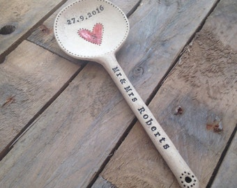 Handmade ceramic personalised 'love' spoon