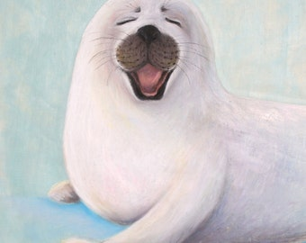 Baby Seal Giclee Print